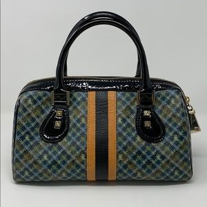 L.A.M.B. Hand Bag Black Multicolored Gingham